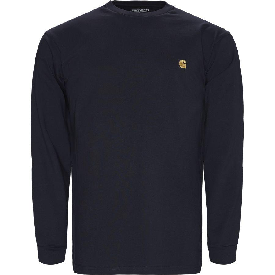 L/S CHASE I026392 - L/S Chase Tee - T-shirts - Regular - DARK NAVY/GOLD - 1
